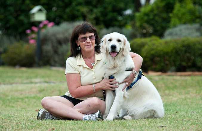 Janet Etchells and her Seeing Eye dog Rocky are regaining their confidence after a nasty incident with a cyclist in Toowoomba.