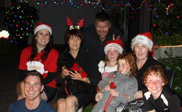 The Biggs, Jewell and Jones families get into the spirit of Christmas.