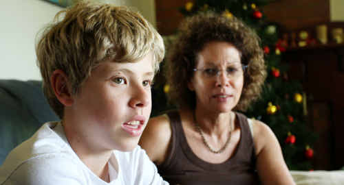 Montville teenager Joseph Prisk talks about his ordeal with his relieved mum Bronwen by his side.