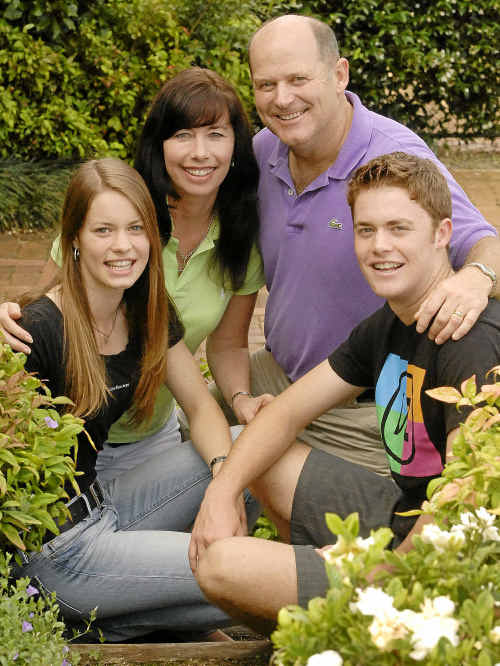 The Mathewson family, which includes (from left) Hannah, Sharyn, Andrew and Jack, has strong leadership ties with Centenary Heights State High School.