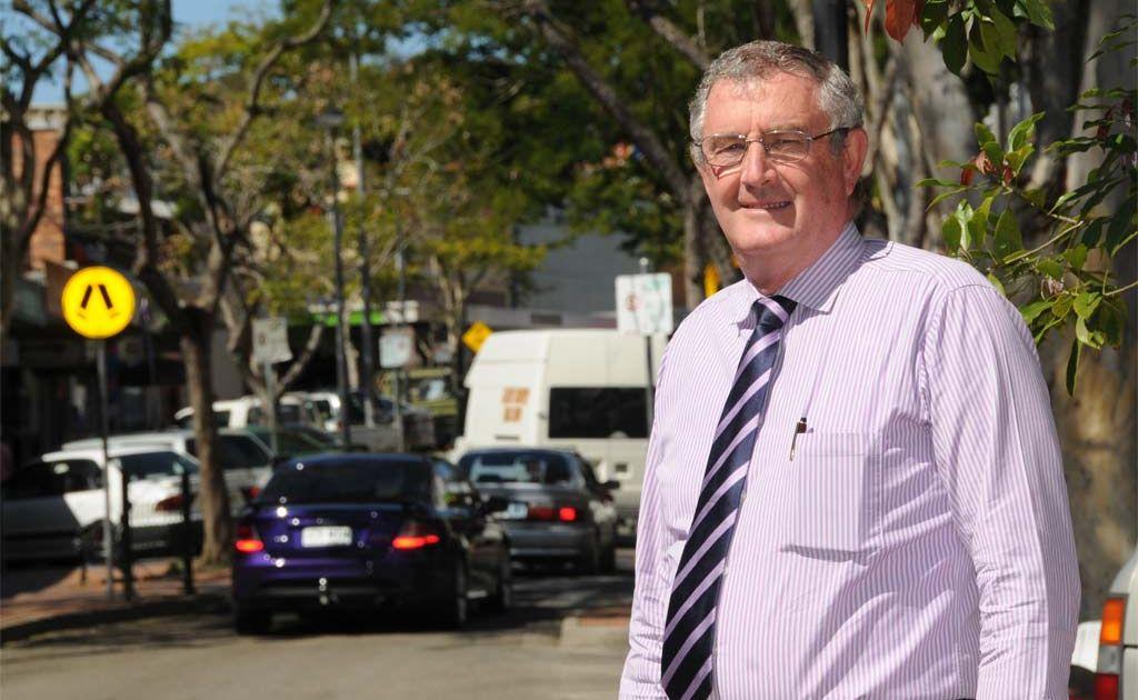 Gympie Regional Mayor Ron Dyne in Mary Street.