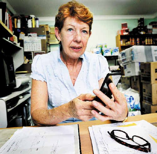 Barbara Robertson of Lennox Head is appalled that the National Bank of Australia has been texting and phoning her with one of their customer's confidential financial information.
