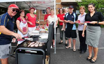 Moving on: More than 50 people including staff, volunteers and donors attended yesterday's farewell barbecue for Coffs Harbour's old Blood Donor Centre in Victoria Street.
