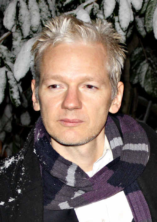 Julian Assange pictured in 2010.