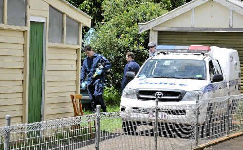 Police seize a drug laboratory discovered in Goode Street at Newtown.