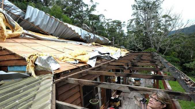 The severe thunderstorm ripped roofs of several houses in the region.