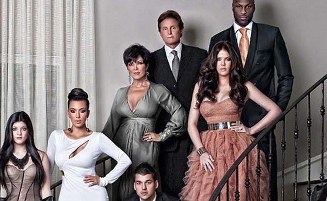 The Kardashians' Christmas card.
