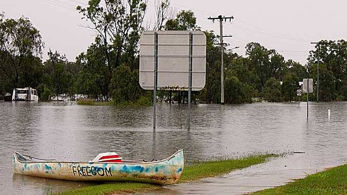 Chinchilla residents are using whatever means possible to navigate through floodwaters.