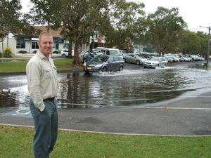 High tide brings flooding