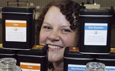 Katherine Appleby is having a ball selling her tea and coffee at the Farmers Family Markets.