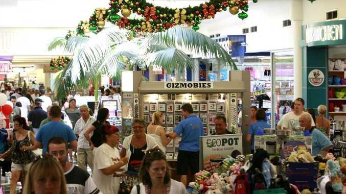 Sunshine Coast residents enjoying the spending season at the Sunshine Plaza.