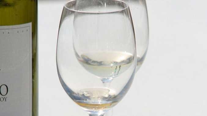 Wine glasses.