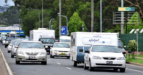 Due to flooding to the north, holiday traffic is using the Coffs Coast as an escape route.