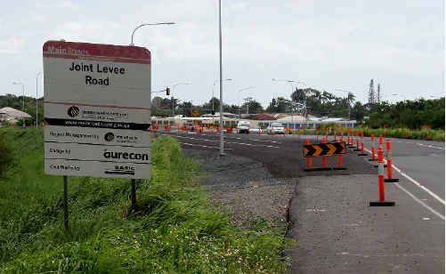 This new section of road between Sams Road and Glenpark Street will now be officially known as Levee Road.