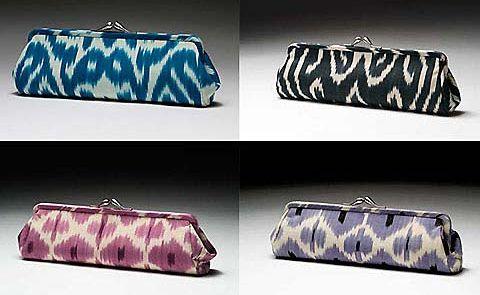 Madeline Weinrib's range of Ikat Clutches.
