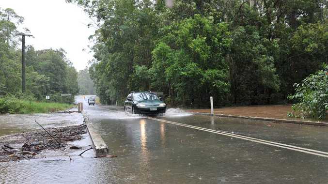 Six Mile Creek on Louis Bazzo Drive at 11am. Photo: John McCutcheon / Sunshine Coast Daily