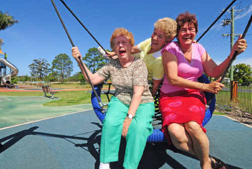 A playground for seniors was the bright idea of councillor Rodney Degens.
