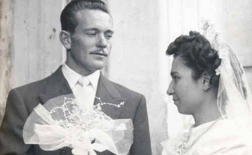 Tony and Dina Vasta on their wedding day 60 years ago, on December 30, 1950, in Riposto, Sicily.
