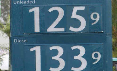 Petrol Prices, Caltex, Aerodrome Road.