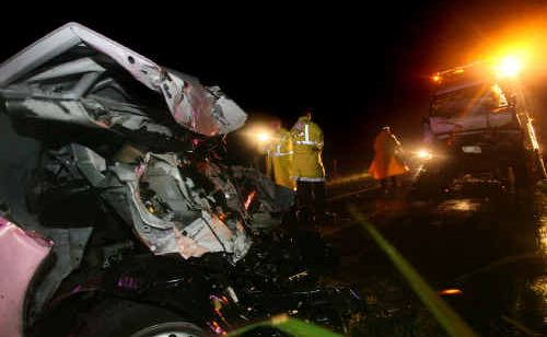 A Toyota Hilux ute and a Holden Jackaroo collided on the Nambour-Bli Bli Road on Tuesday night.
