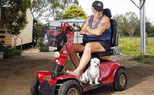 John Fitzgerald's disability modified ute was stolen from his Brightview home and found in Karalee.