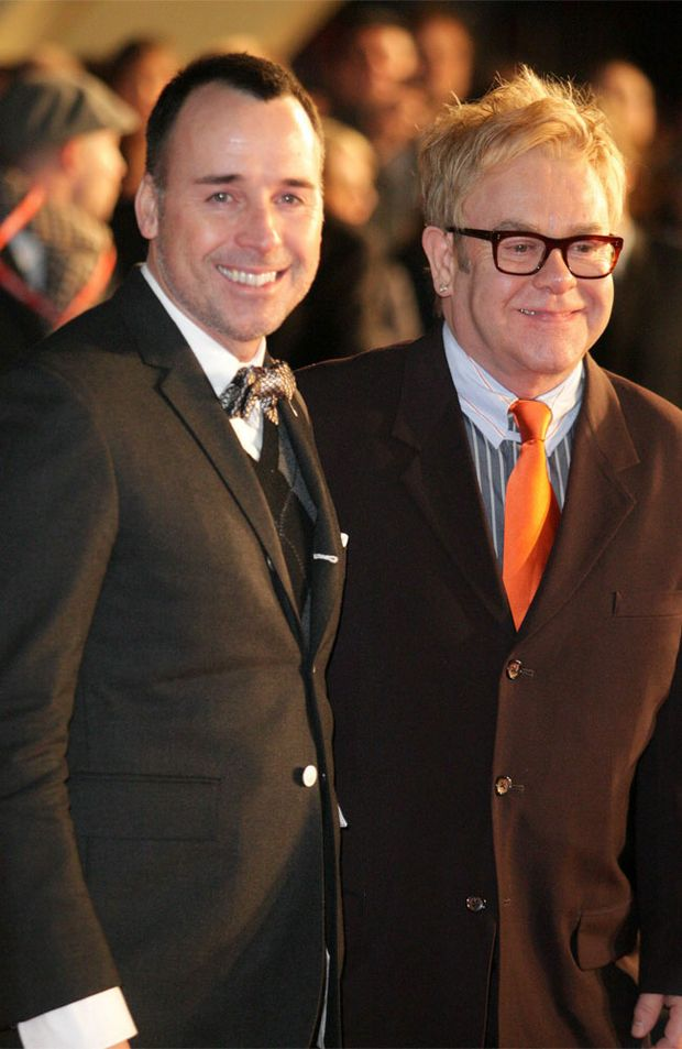Sir Elton John and David Furnish.