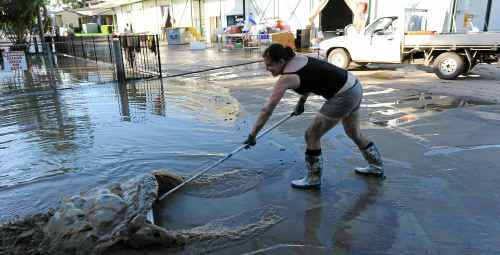 The managers wife Haylea Lavaring cleaning up at the Cold Store. Photo: Mike Knott/NewsMail
