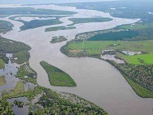 Rivers cut through