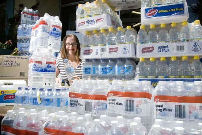 4GR breakfast radio host Lizzy King is absolutely astounded by the water donations from Toowoomba residents and businesses.