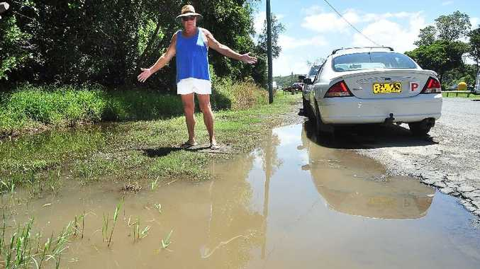 Des Roberts wants this muddy mess cleaned up at the Boronia Park car park at Sawtell.