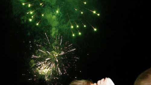 EXCITING: New Year's eve celebrations at Timothy Molony Park. Photos: David Nielsen DE3110DT