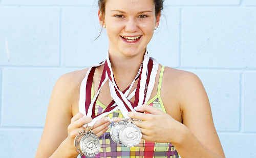 Megan Gianotti, 14, overcome a long illness to secure a haul of medals at the recent Queensland age championships in Brisbane.