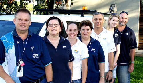 Mackay Regional Council Staff Bruce Chester-Master, Fiona Chambers, Linda Mackenzie, Jo-Anne Dougan, John Zimmermann, Kirsty Ryan and Brendan Ryan are off to Emerald to help with disaster management in the flood-stricken area.