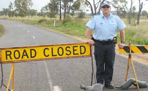 Leyburn officer-in-charge Constable Chris Stewart is growing increasingly frustrated with drivers ignoring the road closure.