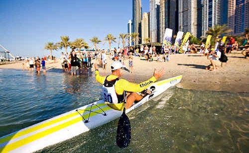 Ben Allen at the Dubai Shamaal.
