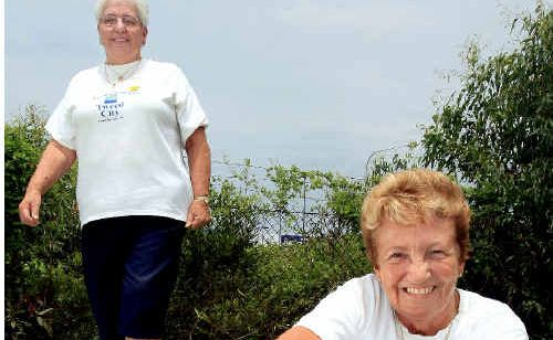 Sheila Leiper and Barbara Wakefield run the Health Point Chemist Tweed City Walkers group.