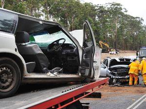 Crash injures four, stops traffic