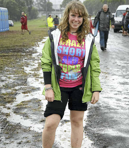 Pathfinder Anastasia Pott had the time of her life at the washed out camporee.
