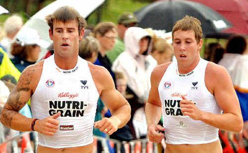 Rhys Drury, left, and Mitch Miller.