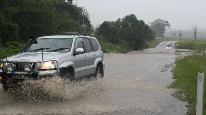 Heavy rain caused some flooding and road closures along the Coast.