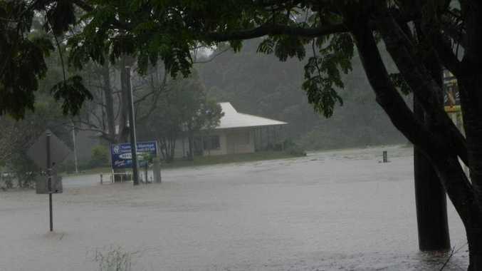 Flooding around Palmwoods