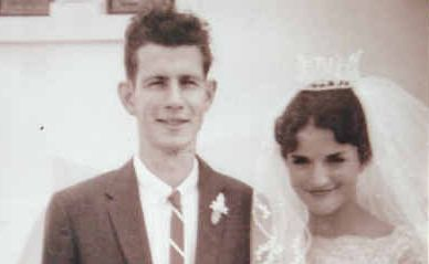 JOHN and Jacquelene Green on their wedding day in 1961.