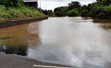 A swollen Wilson River.