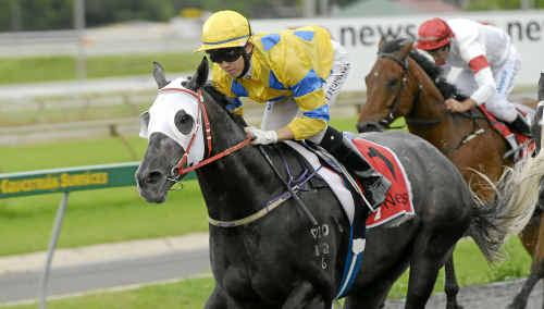 Tats Fujinuma rides Paper Weight to victory at Clifford Park on Saturday.