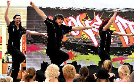 Stage presence: Move It dancers perform at Tweed City.