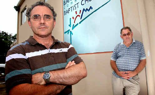 Crime spree: Pastor Ian Aylward and director Bill Parr are angry about the break-ins.