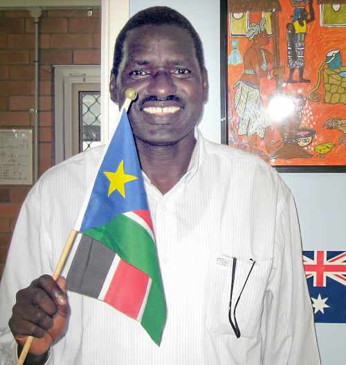 Akol Mager travelled to Brisbane to vote in the historic referendum.