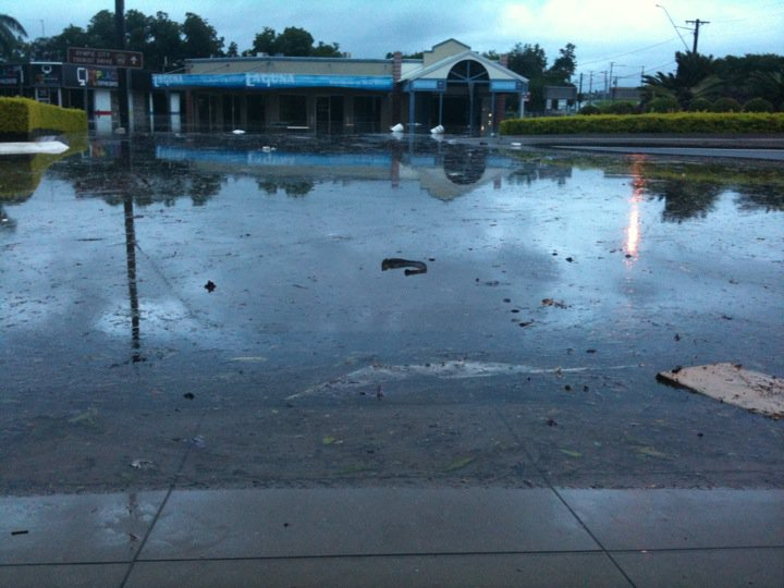 Flooding at The Royal Hotel in Gympie.