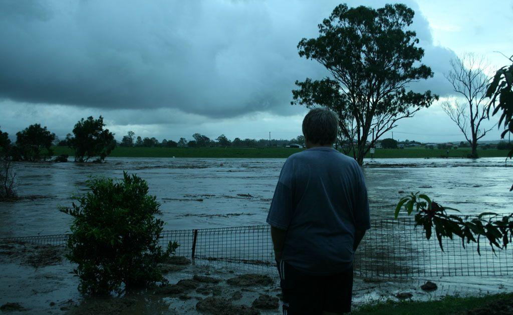Water from Lockyer Creek floods Gatton.