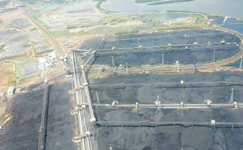 The empty coal stacks at the R.G. Tanna coal terminal are expected to stay that way for at least another three weeks.